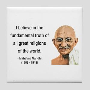 Gandhi 20 Tile Coaster