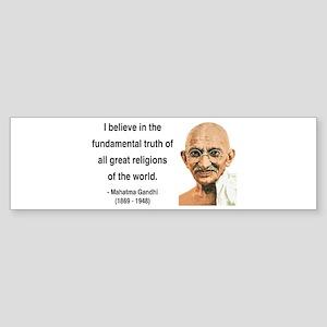 Gandhi 20 Bumper Sticker
