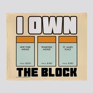 Monopoly - I Own The Block Throw Blanket