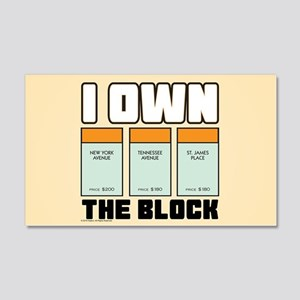 Monopoly - I Own The Block 20x12 Wall Decal