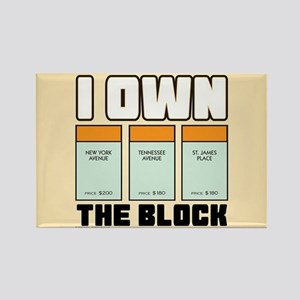 Monopoly - I Own The Block Rectangle Magnet
