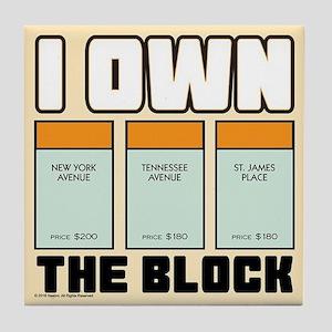 Monopoly - I Own The Block Tile Coaster