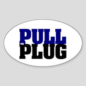 PULL THE PLUG Sticker