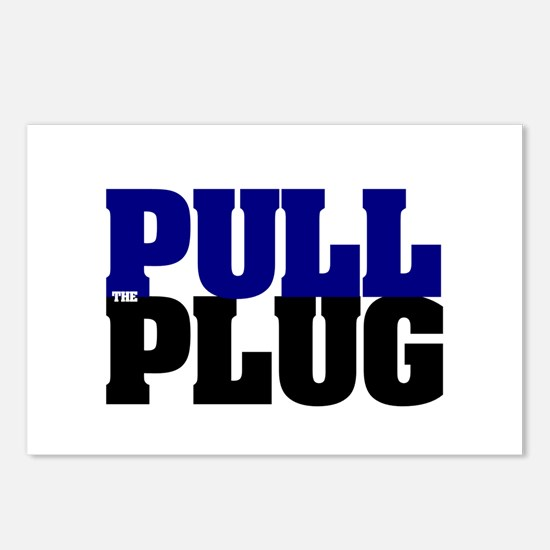 PULL THE PLUG Postcards (Package of 8)