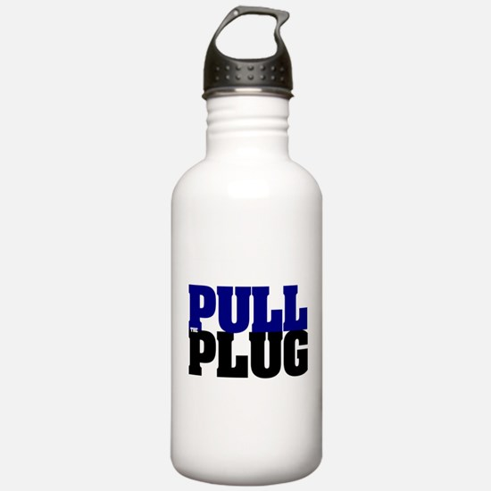 PULL THE PLUG Sports Water Bottle