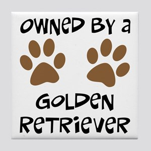 Owned By A Golden... Tile Coaster