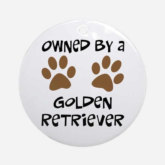 Owned By A Golden... Ornament (Round)