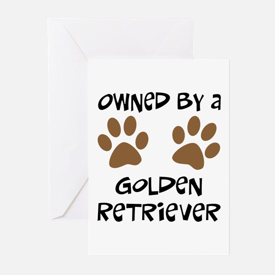 Owned By A Golden... Greeting Cards (Pk of 10)