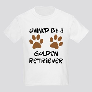 Owned By A Golden... Kids Light T-Shirt