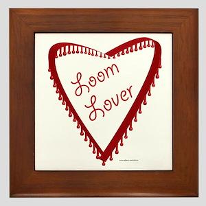 Loom Lover Heart Framed Tile
