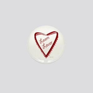 Loom Lover Heart Mini Button