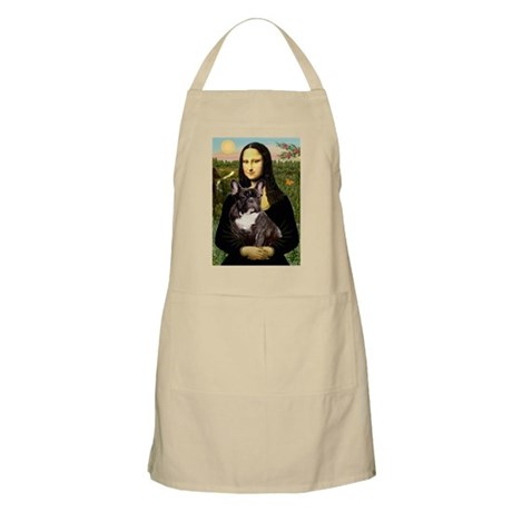 Mona Lisa & French Bulldog BBQ Apron