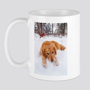 Sleepy Snow Golden Mug