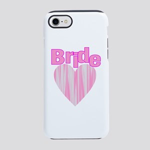 pink heart team bride iPhone 8/7 Tough Case
