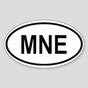 Montenegro Oval Sticker