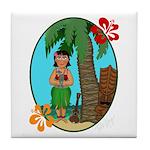 Hula Baby Tile Coaster