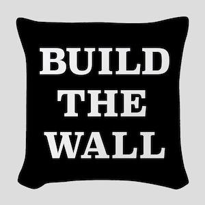Build The Wall Woven Throw Pillow