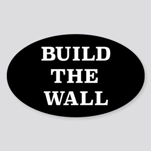 Build The Wall Sticker (Oval)