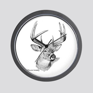 Whitetail Deer Wall Clock