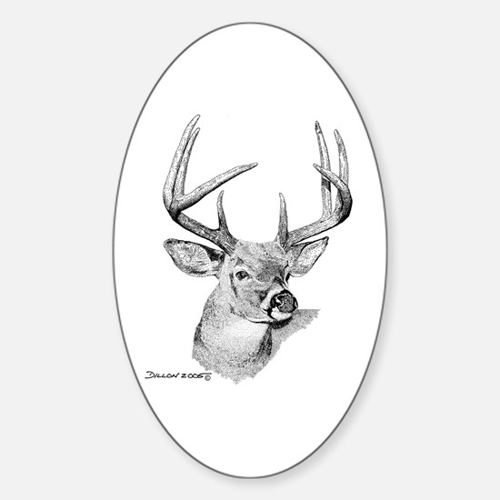 Whitetail Deer Oval Bumper Stickers