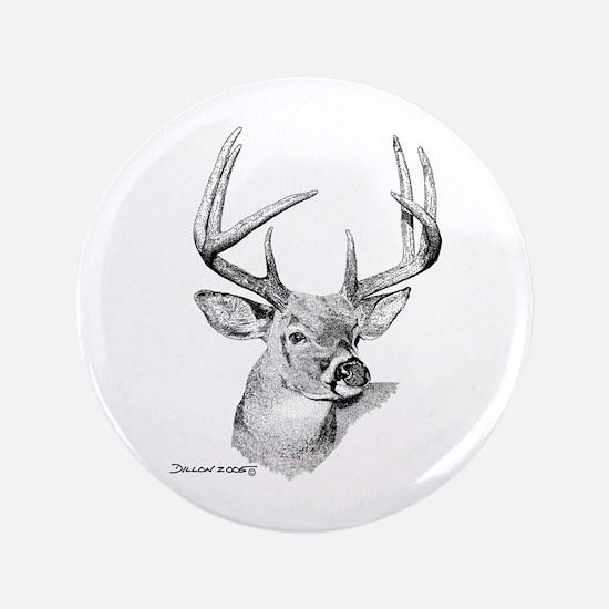 "Whitetail Deer 3.5"" Button"