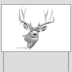 Mule Deer Yard Sign