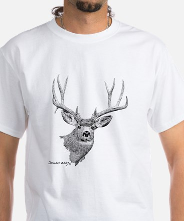 Mule Deer White T-Shirt