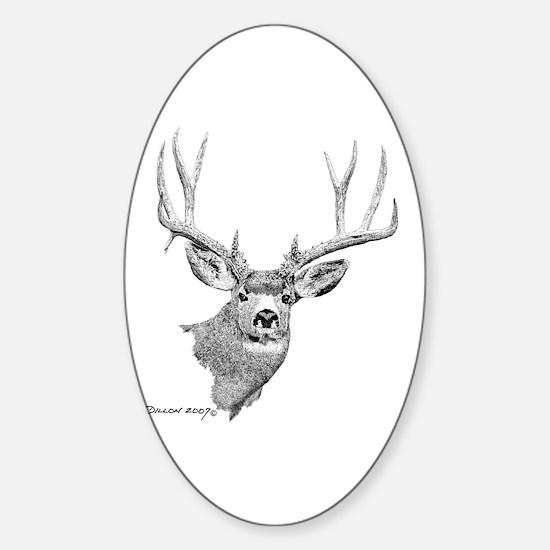 Mule Deer Oval Decal