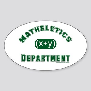 Mathelete Oval Sticker