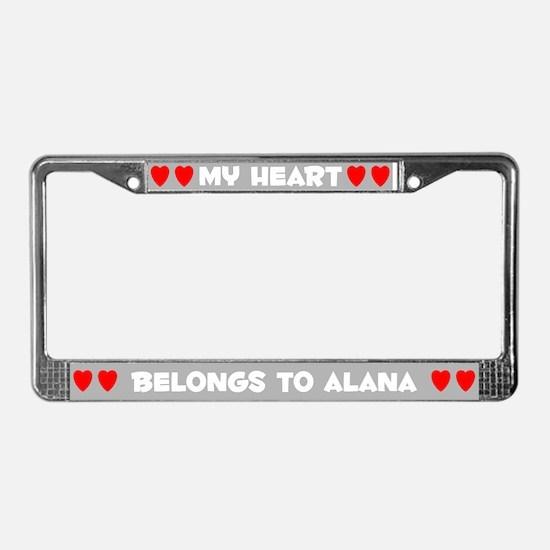 My Heart: Alana (#006) License Plate Frame