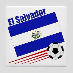El Salvador Soccer Team Tile Coaster