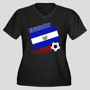 El Salvador Soccer Team Women's Plus Size V-Neck D