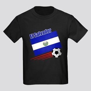 El Salvador Soccer Team Kids Dark T-Shirt