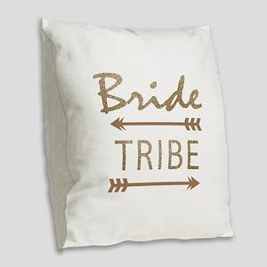 tribal arrow bride tribe Burlap Throw Pillow