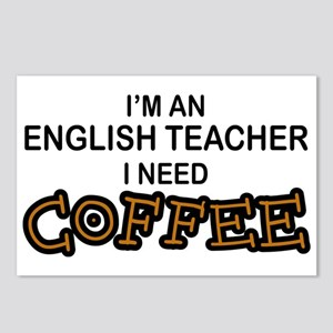 English Teacher Need Coffee Postcards (Package of
