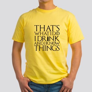 I know Things Yellow T-Shirt