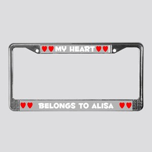 My Heart: Alisa (#006) License Plate Frame