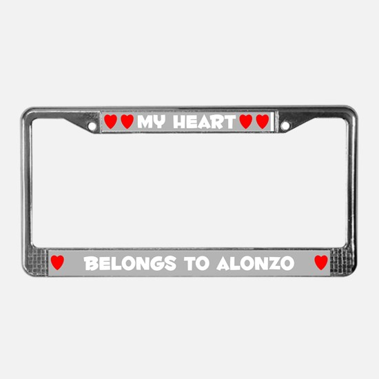 My Heart: Alonzo (#006) License Plate Frame