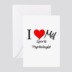 I Heart My Sports Psychologist Greeting Cards (Pk