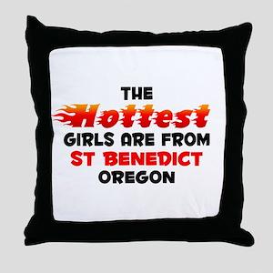Hot Girls: St Benedict, OR Throw Pillow