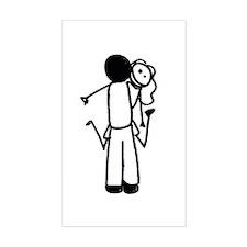 Hug (b) Rectangle Sticker