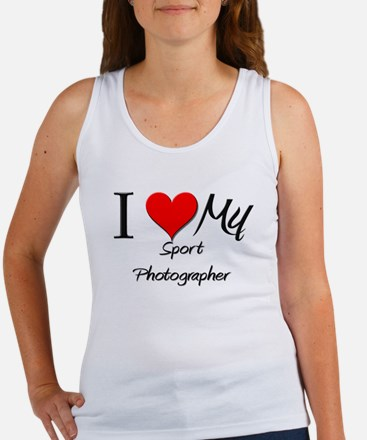 I Heart My Sport Photographer Women's Tank Top