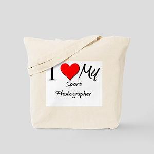 I Heart My Sport Photographer Tote Bag
