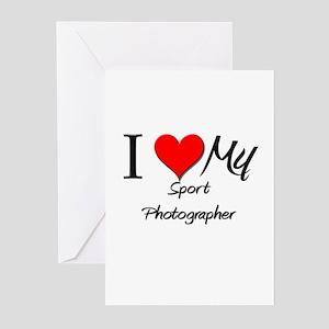 I Heart My Sport Photographer Greeting Cards (Pk o