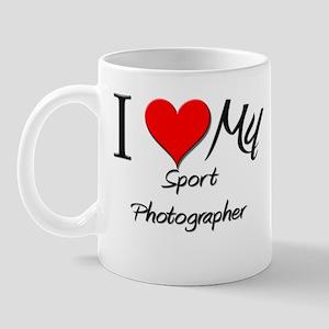 I Heart My Sport Photographer Mug