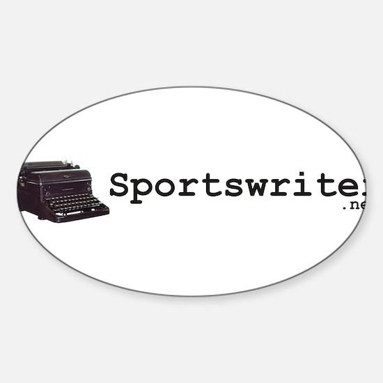 Sportswriter .net Oval Decal