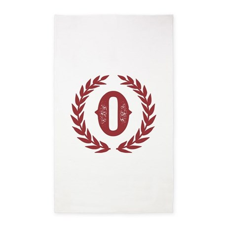 Rustic Red Monogram: Letter O Area Rug