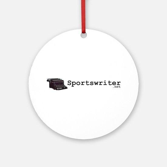 Sportswriter .net Ornament (Round)