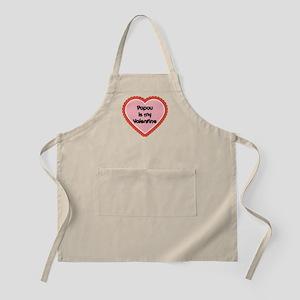 Papou is My Valentine BBQ Apron