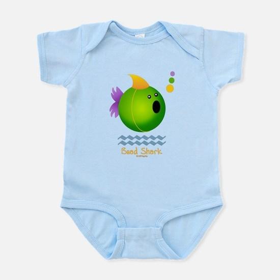 Bead Shark Bead (green) Infant Bodysuit